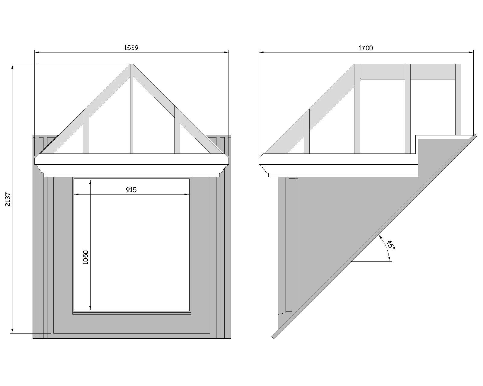 Fibreglass grp dormer trussed roof dormers uk for Dormer window construction drawings