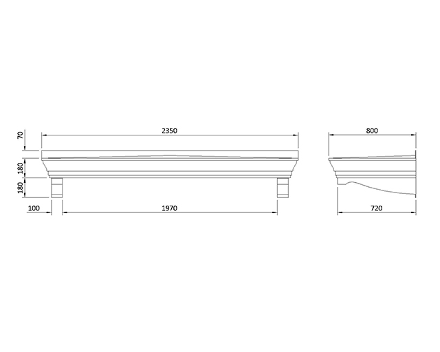 Laverstock 800 Series 2350 Replica Lead Flat Roof Canopies
