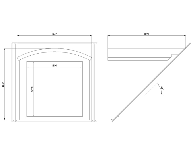 45 Curved Roof Dormer Grp Window Surround 6332 01