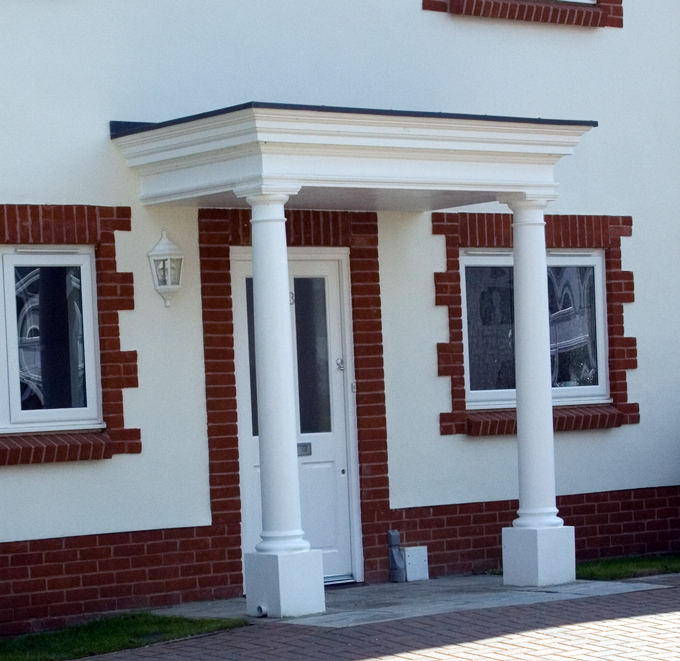 Entrance With Portico Columns : Shaftesbury portico grp entrance porticos