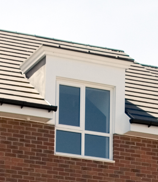 Roof dormers construction a hip to gable brick loft for Dormer window construction drawings