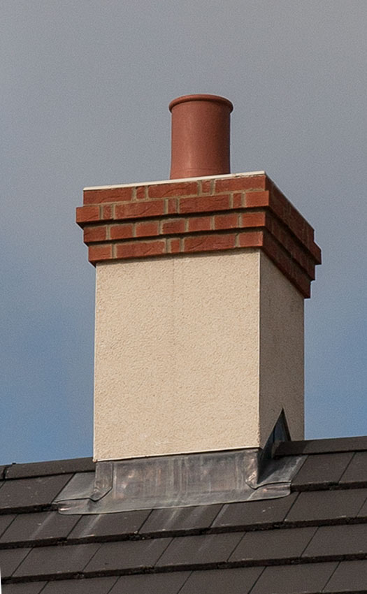 Quickstack Rendready Chimney on Roof
