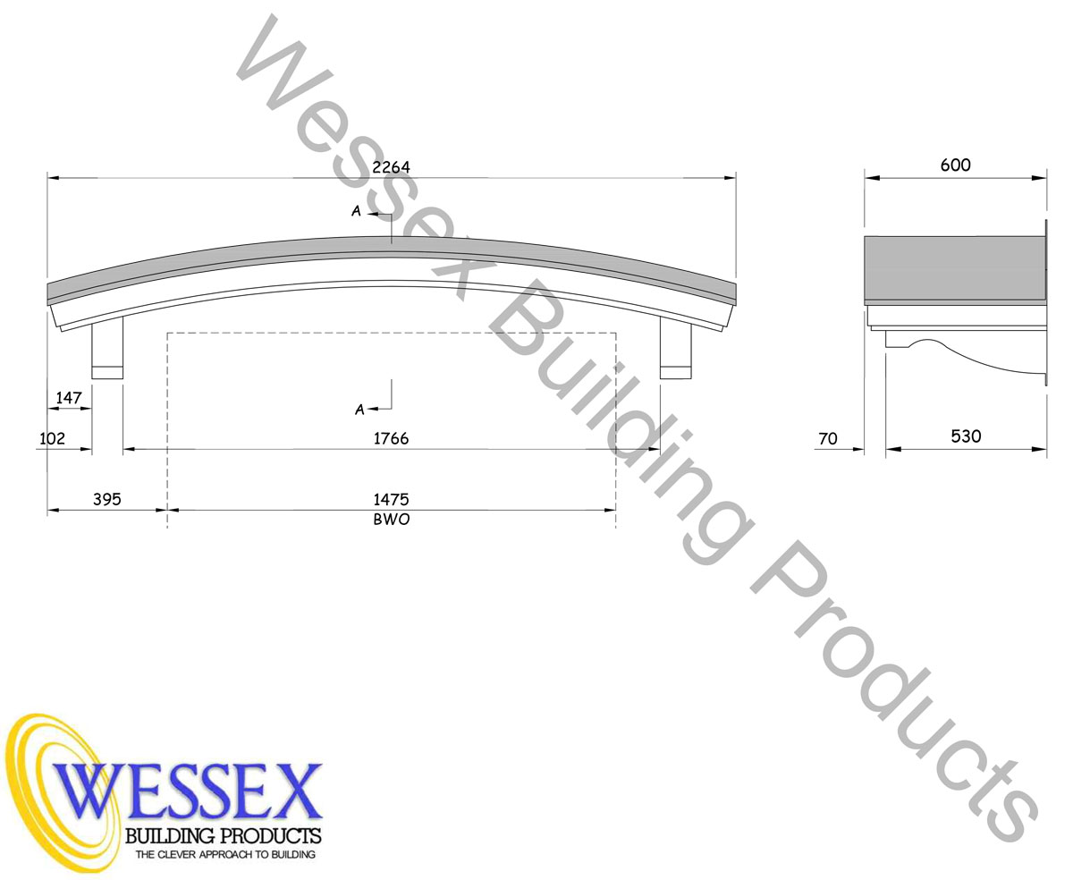 GRP Curved Canopy