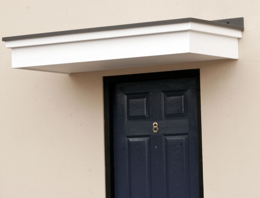 Flat Canopy FC2 & GRP Flat Roof Canopies | Fibreglass Entrance Canopy - UK