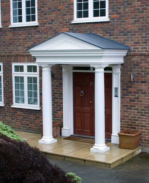 Entrance With Portico Columns : Grp door surrounds fibreglass porches uk