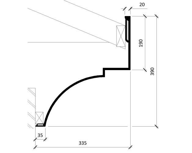 Curved Cornice Moulding