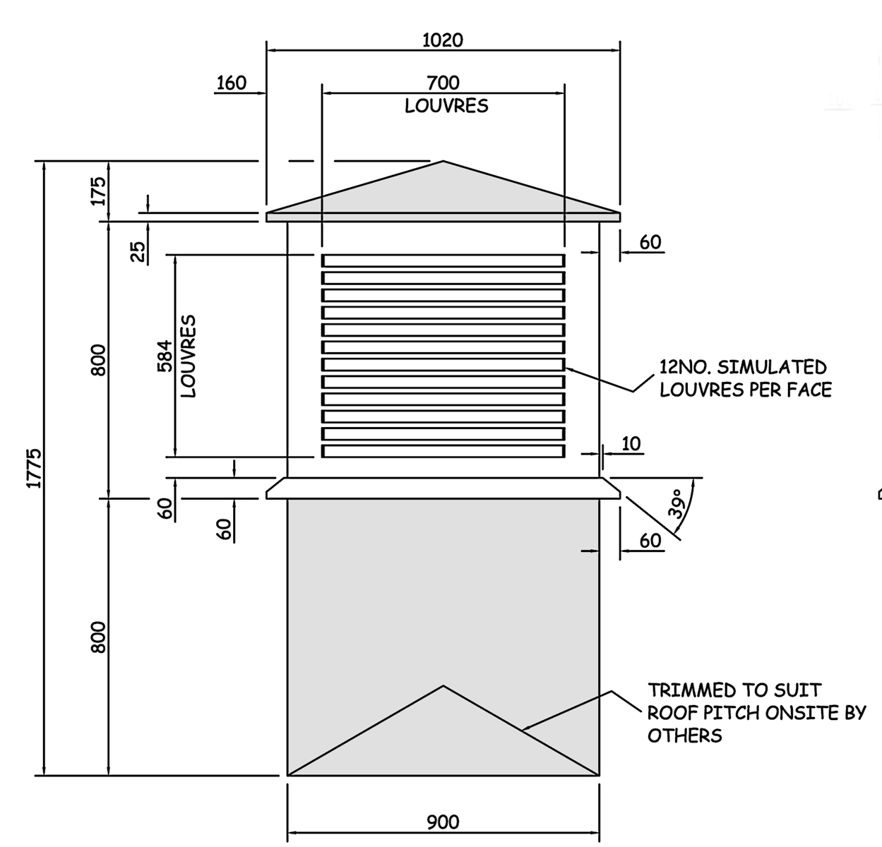 Fibreglass Roof Dovecotes And Turrets Grp Roofing Supplies Alero Engine Diagram Wbp 70106 Dovecote