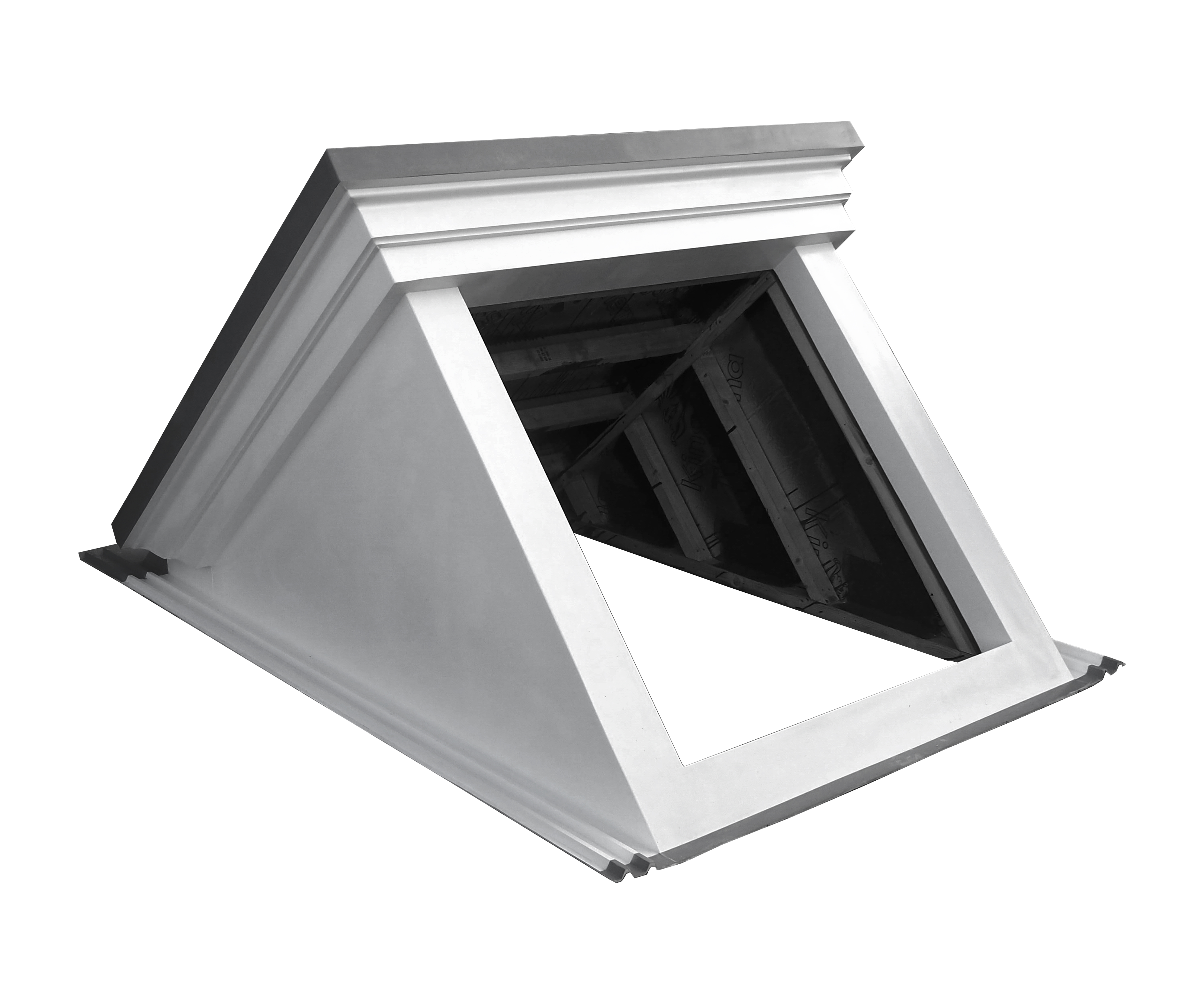 GRP dormer window for flat roofs