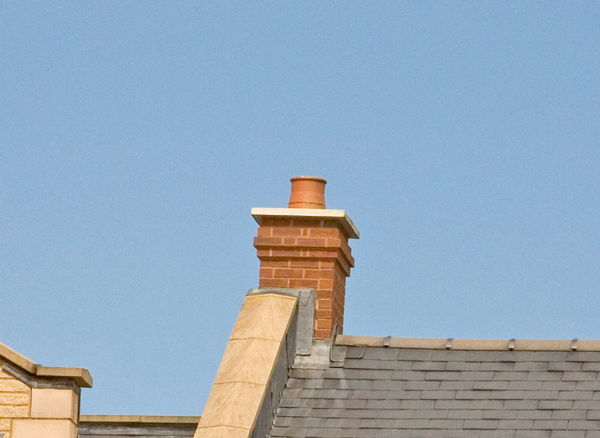 Quickstack End Gable Chimney With OS Capping & Parapet Wall Detail - Image For Illustration Purposes Only