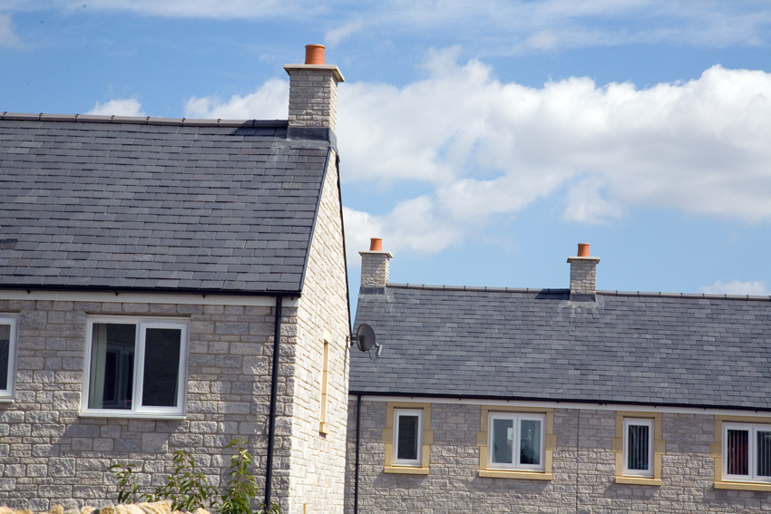 Quickstack End Gable Chimneys With OS Capping - Image For Illustration Purposes Only