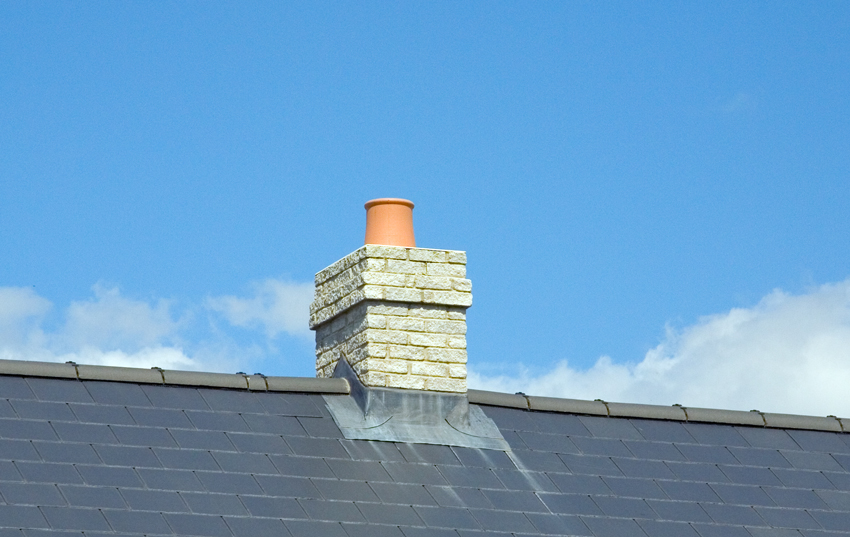 Quickstack Mid Ridge Chimney With BF Capping - Image For Illustration Purposes only